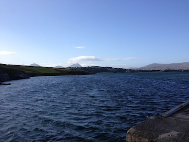 The sewage is flowing into beautiful Ballyness Bay in Falcarragh.