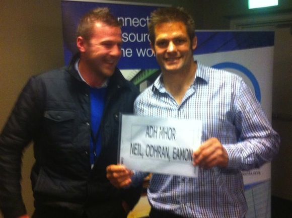 Eamon with Richie wishing the Donegal lads the best of good luck!