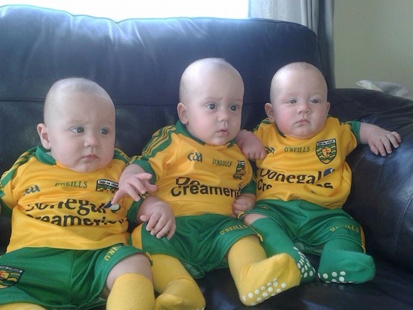 What about this for a hat-trick of Donegal fans?