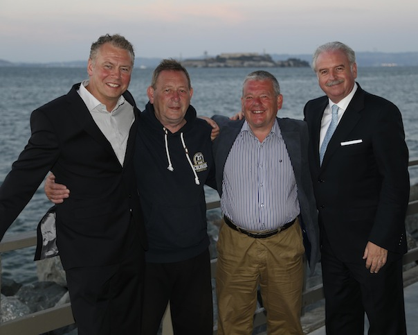 Pictured enjoying the sites of San Francisco from left to right are: Dermot Griffin, National Lottery Chief Executive; Terence O'Gorman and his brother Francis O'Gorman from Bundoran; Marty Whelan, Winning Streak TV Gameshow host.