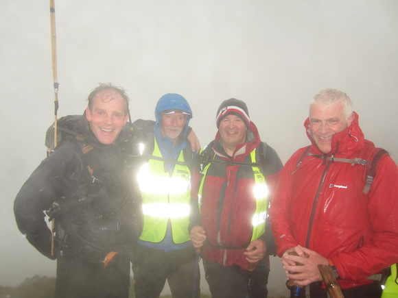 Top men! Anraí and members of the DMRT at the top of Errigal today