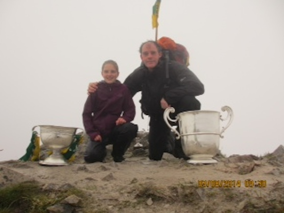 Anraí and Grainne on top of Errigal