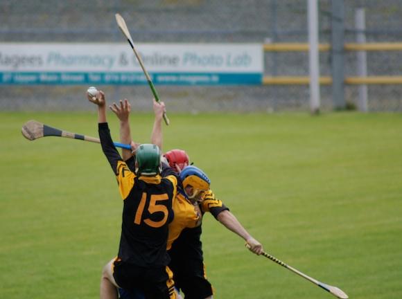 Conor McVeigh fields a high ball