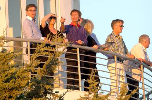 Daniel and Majella tonight in Portugal with Sir Cliff