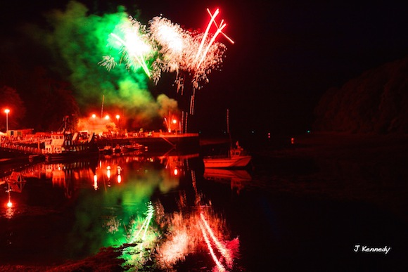 Donegal Town fireworks by Jonathan Kennedy for donegaldaily.com