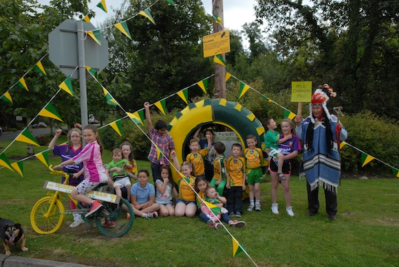 The big chief from Kerry might be a little outnumbered by these Donegal fans from Stranorlar!