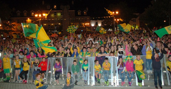 Is it true there were more people in Donegal Town than there was in Kerry for their return? ALL PICS BY PAUL O'SULLIVAN