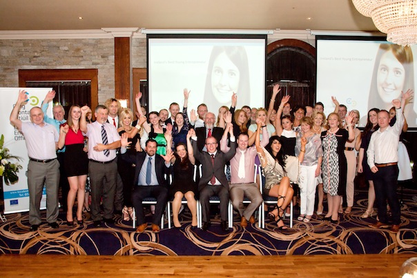 Group of IBYE at awards ceremony in Donegal: 15 finalists of the Donegal stage of Ireland's Best Young Entrepreneur with their family, friends and supporters at Wednesday evenings Gala Award Ceremony in Silver Tassie Hotel, Letterkenny.