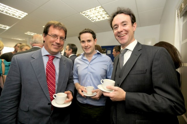 Jamie O'Donnell, Michael Maloney and Seamus Breen at the official opening of Nathaniel Lacy Partners Solicitors new offices at the Riverside Centre, Letterkenny.
