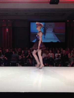 Model Jocelyn on the runway