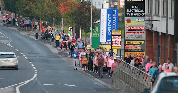 The huge crowd come back in the Port Road towards the town. PIc by Brian McDaid.