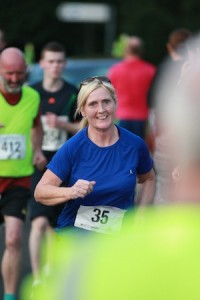 The late Shaun Graham's mum Katriona during this evening's memorial event for her son. Pic by Brian McDaid.