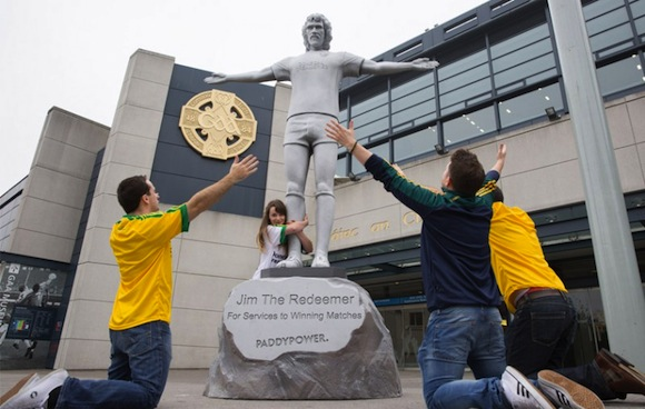 The statue erected to Jim McGuinness outside Croke Park today!