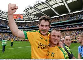 Man of the Match Ryan McHugh. His two goals helped Donegal fans to a million euro in bookies winnings