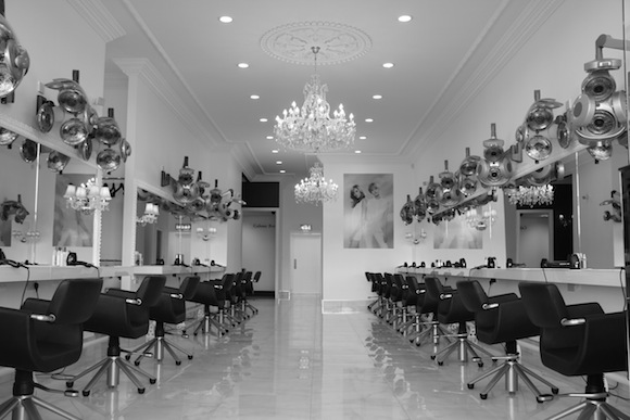 The main salon floor in Patrick Gildea's new hairdressing studio at the Riverside retail Park.