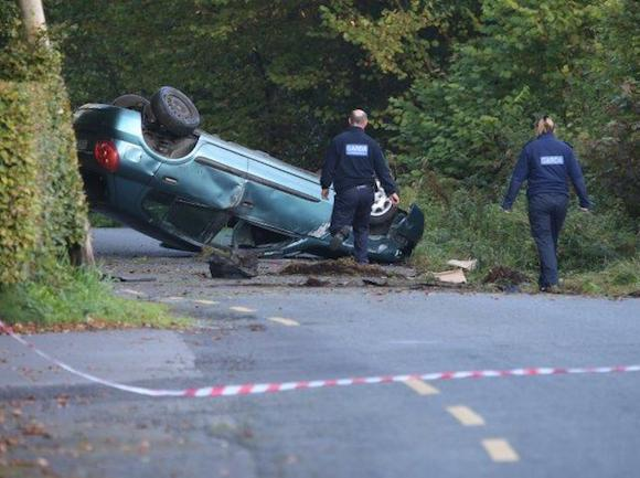 The scene of this morning's crash. Pic North West News Pix