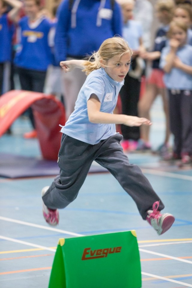 Two hundred children from many of the smaller schools around Donegal met at the popular Aura Sports Centre, Letterkenny for a fun event.