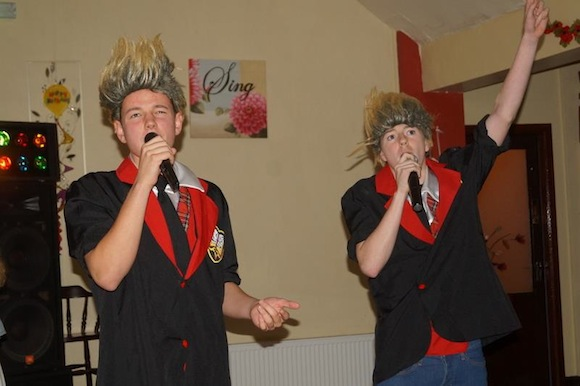 Sean Friel and Glen Gallagher had the place rocking when they appeared as Jedward.