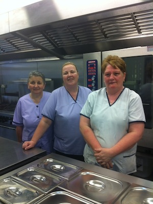 Catering staff/Multi task staff from L to R  Maureen  Doherty ,Yvonne Mc Ginley ,Noeleen Catterson