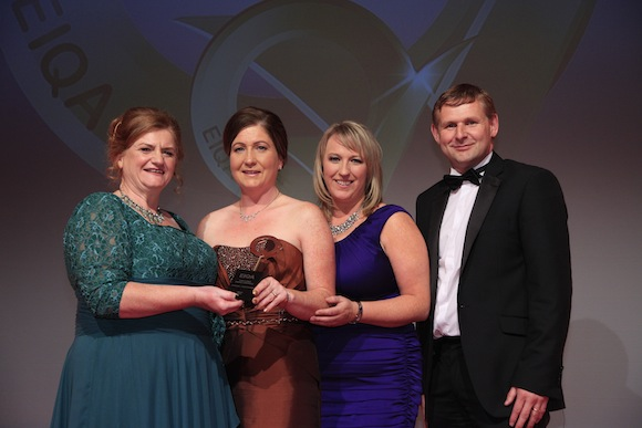 The Team from Tobins Service Station with their award.