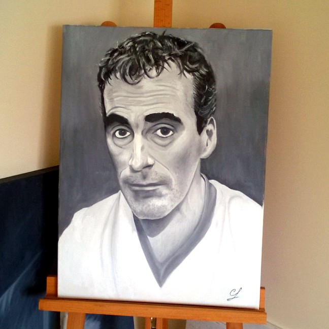Colin Farrell produced this amazing oil painting as a tribute to former Donegal manager Jim McGuinness.