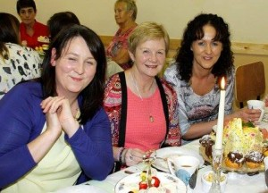 These ladies enjoyed their tea at the fundraising tea dance.