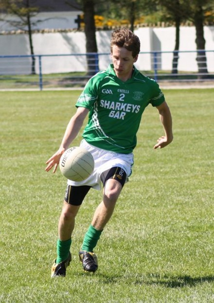 Mulholland in action for Naomh Muire before he emigrated to Australia.