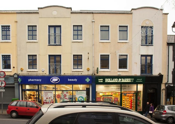 The commercial premises in Letterkenny which goes under the hammer with a reserve price of €740,000.