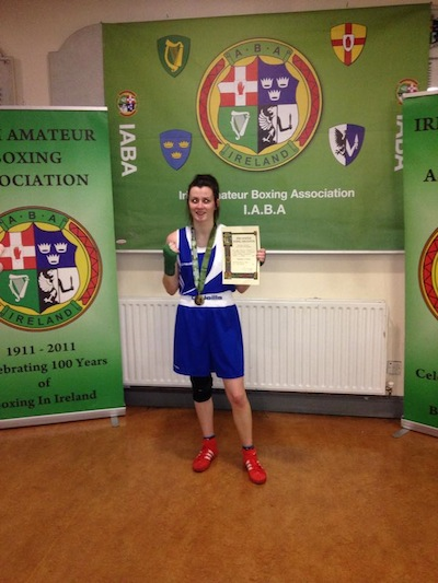 Donna after she won her Intermediate title