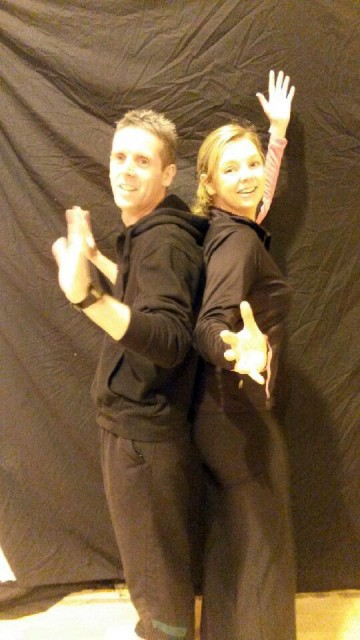 Liam Porter and Sabrina Barnett who are taking part in the Deele College Strictly Come Dancing.