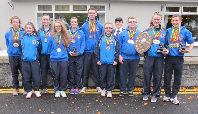 Medal winners from the ISKU after recent success in Carlow