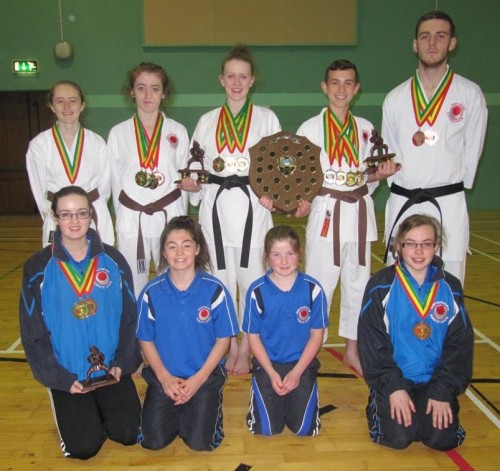 Medal winners from the ISKU after the Carlow International competition