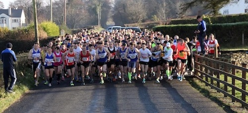 Some of the large turn-out for today's race.