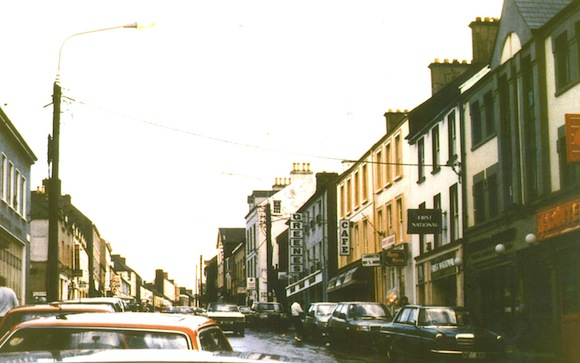 Letterkenny's Main Street in the 1980s.