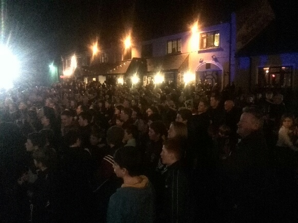 Huge crowds turned out in Termon tonight for the return of the All-Ireland club champions.