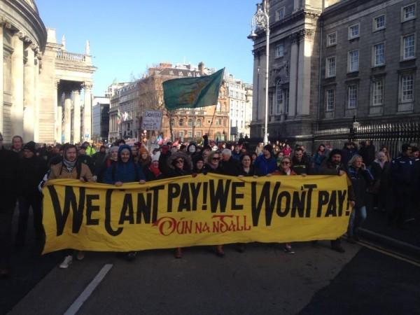 Donegal protestors in Dublin today