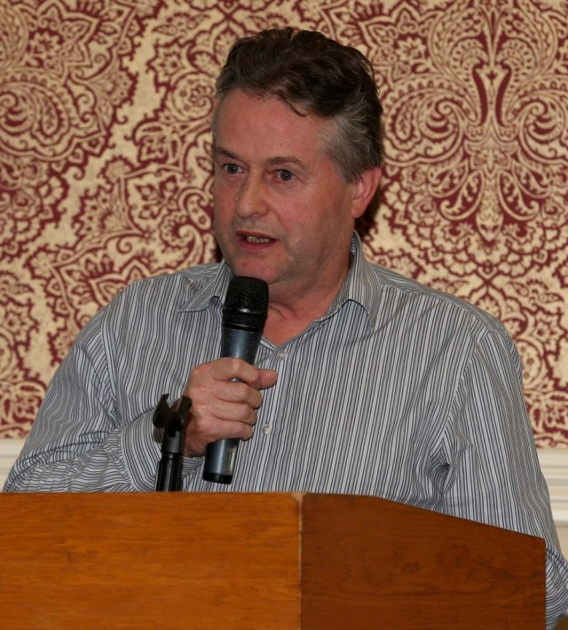 Michael Deehan of Renewable Building Technologies Ltd. who gave a talk on Near Zero Energy Buildings at the Engineers Ireland Open Evening.