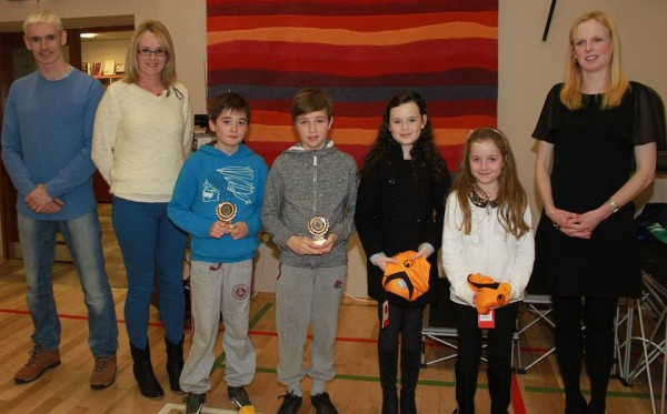 Award winners from the Magheragallon training group with Aidan Gillespie, coach Noreen Mc Gee and Fionnuala Diver