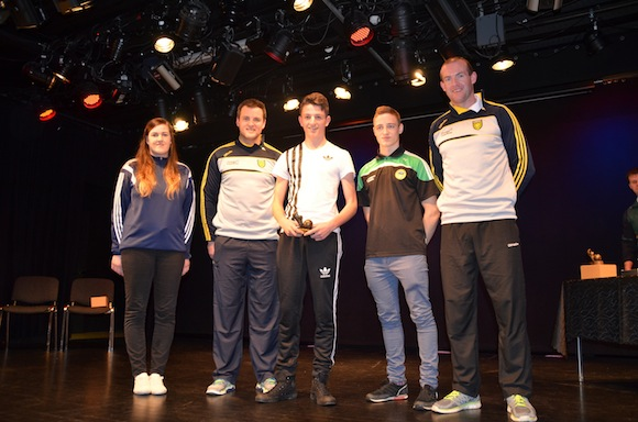 Kyle Diver receives  the U15 Donegal Development Squad Award. ALL PICS BY KIND PERMISSION OF GERALDINE DIVER
