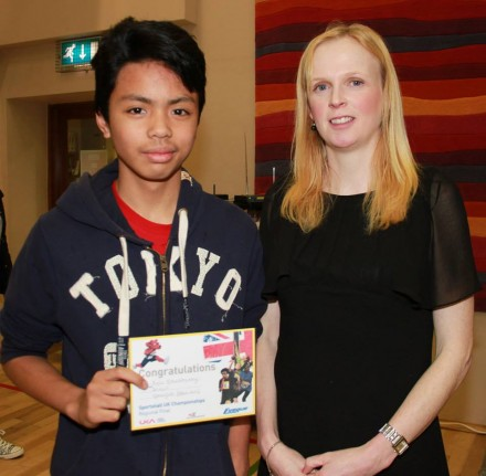 Kyle Macadangdang who competed on the Donegal team at the UK Sportshall Athletics Finals in Manchester