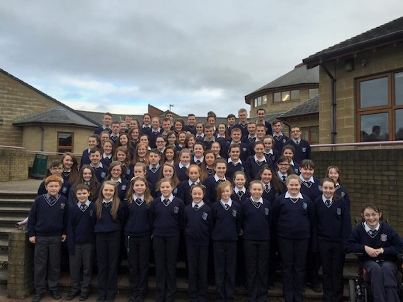 The cast of the Mulroy College variety show.