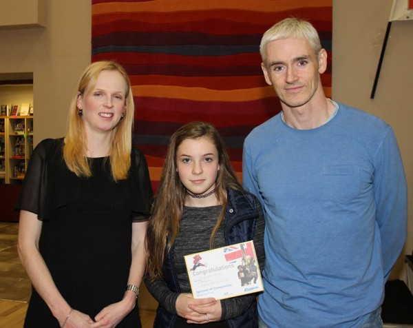 Orfhlaith Winters, Pobalscoil Ghaoth Dobhair who competed on the Donegal team at the UK Sportshall Athletics Finals in Manchester