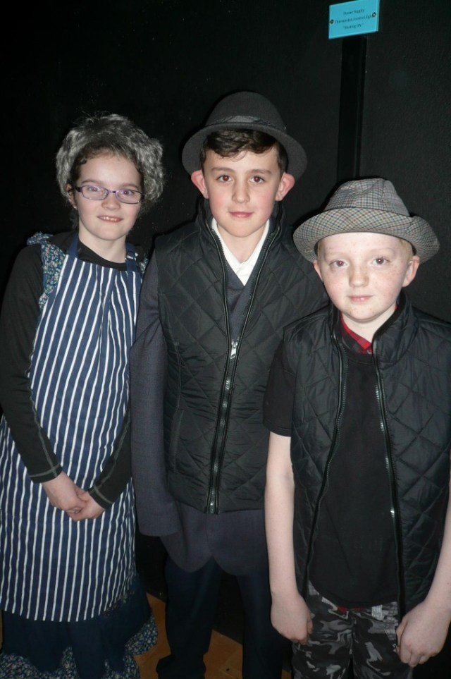 Orlagh Gallagher, Mathew Price and Dylan Scott McBride as    Frau Schmidt, Captain Von Schreiber and Herr Zeller.JPG