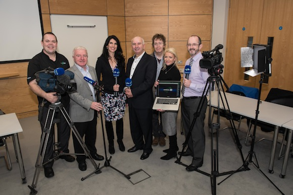 The Donegal TV crew. Pic by Clive Wasson.