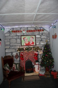 Inside Santa's grotto!