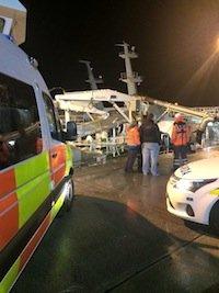 The scene of last night's rescue in Killybegs. Pic by Killybegs Coastguard.
