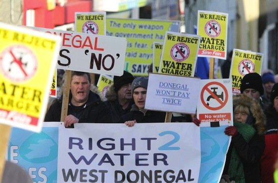 Protestors at today's rally in Letterkenny. Pic by Northwest Newspix.