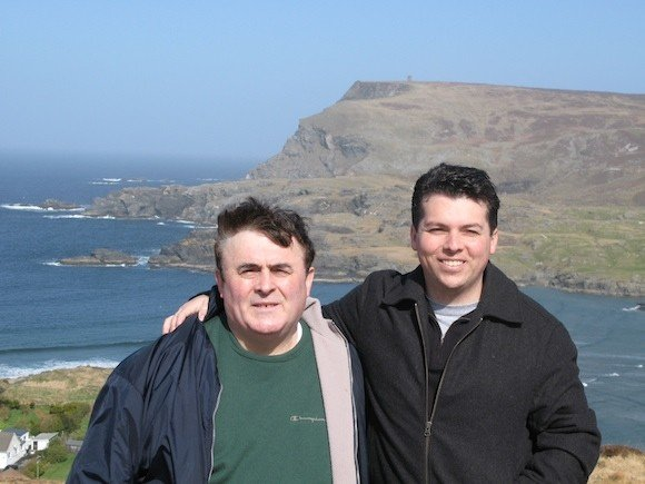 Brendan and Frank on a recent holiday home to The Glen