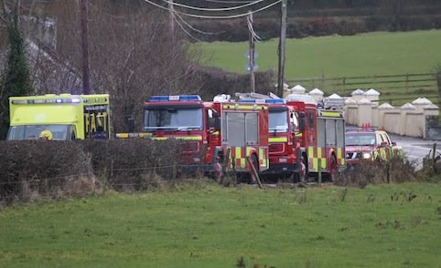 The scene of the crash at Lifford this afternoon. Pic by Northwest Newspix.