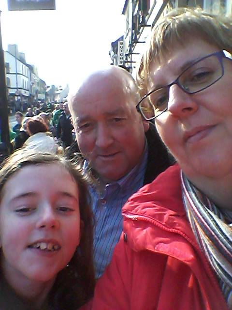 McGinty family Edenoughill, Kllygordan at parade Ballybofey.
